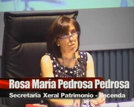 Rosa María Pedrosa Pedrosa, secretaria Xeral e do Patrimonio - Xornadas sobre A Modernización da Administración Autonómica de Galicia
